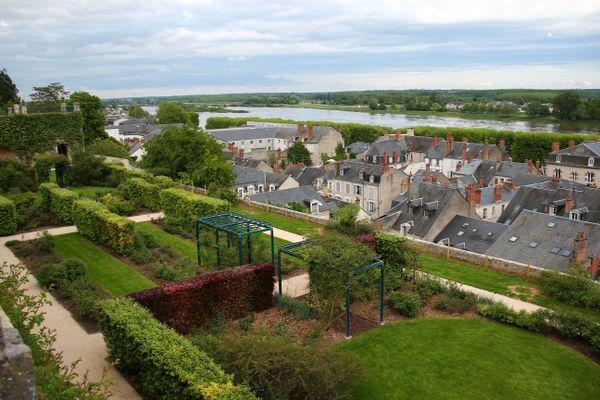 Vue des jardins de Blois