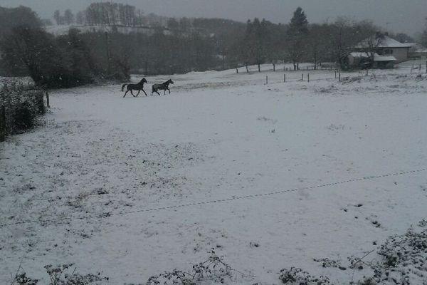 Seilhac (19) sous la neige