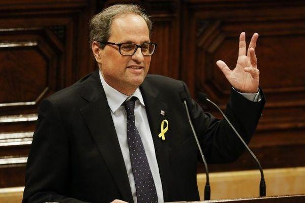 Quim Torra, élu à la présidence de la Catalogne - mai 2018