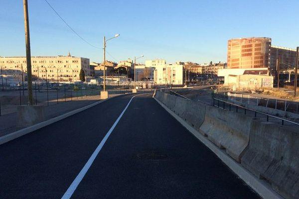Montpellier - un nouvel accès au parking Saint-Roch, proche de la gare SNCF - 2017.