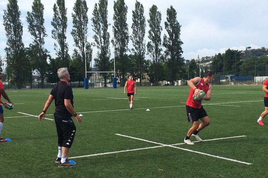 Rugby : retour à l'entraînement pour le Stade niçois qui jouera en Nationale cette saison