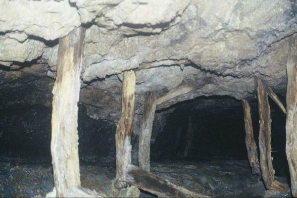Une galerie de la mine de Meria