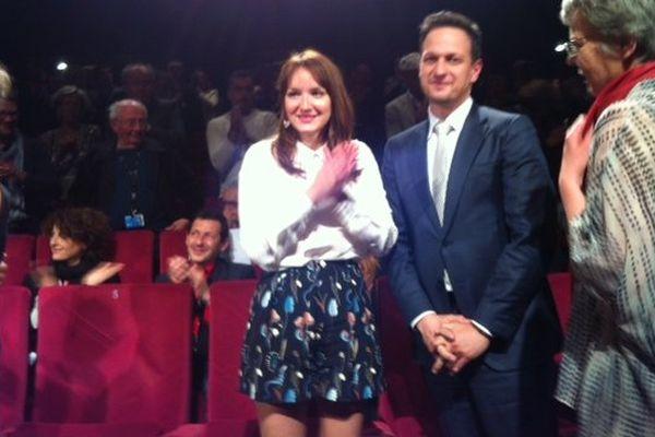 Anaïs Demoustier lors de la présentation de Bird People au festival de Cannes.