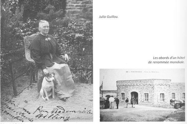 """C'est à Julia Guillou que l'on doit la naissance du tourisme à Port Manec'h. """"La bonne hôtesse"""" comme on la surnommait transforma en 1904 un petit fort en un hôtel de luxe très vite fréquenté par la haute société."""