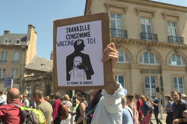 Manifestation à Caen le samedi 17 juillet 2021 contre le pass sanitaire