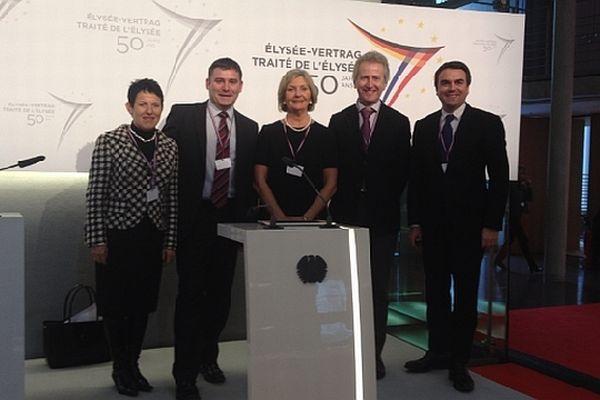Les 5 députés de Saône-et-Loire (Edith Gueugneau, Cécile Untermaïer, Philippe Baumel, Christophe Sirugue et Thomas Thévenoud) ont fait le déplacement à Berlin pour le cinquantenaire de la coopération franco-allemande