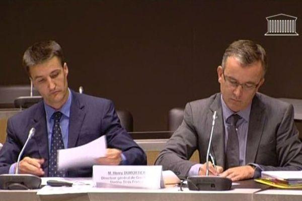 Olivier Rousseau, le président du conseil d'administration et Henry Dumortier, directeur général du groupe ont été auditionnés par les membres de la Commission d'enquête parlementaire