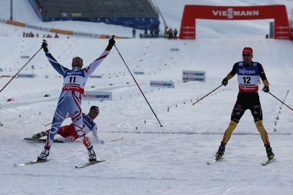 Le Français habitué des photos finish s'assure cette fois ci une bonne marge. Qu'elle est belle cette médaille d'or !