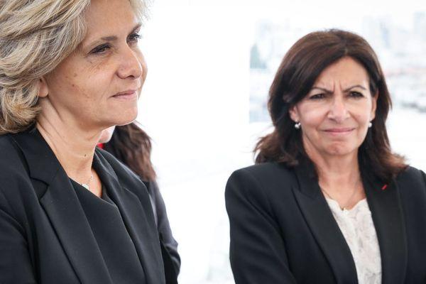 Valérie Pécresse (LR), à la tête de la région Île-de-France, et Anne Hidalgo (PS), à la tête de la Ville de Paris.