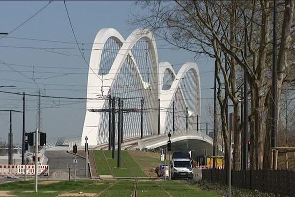 Le pont du tram entre Kehl et Strasbourg