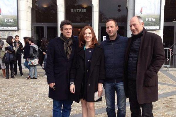 Marc Lavoine, Odile Vuillemin, Fred Testot et Sam Karmann au FIPA 2015 à Biarritz