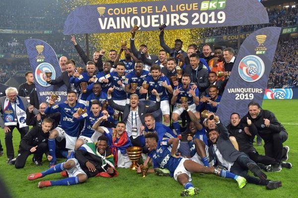 Le RC Strasbourg vainqueur de la finale 2019 disputée au Stade Pierre-Mauroy.