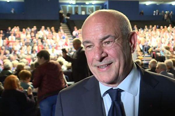 Bernard Asso candidat Les Républicains aux européennes, seul azuréen (LR) en position éligible. Lors du meeting Les Républicains au Cannet ce vendredi 3 mai.