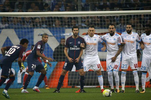 Le match OM/PSG, le 22 octobre 2017.