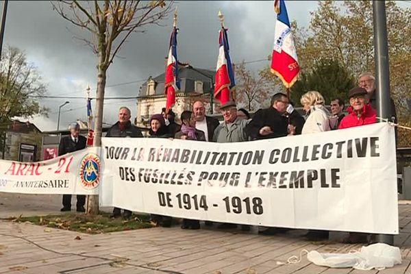 Rassemblement à Dijon pour les soldats de 14-18 fusillés - 5 novembre 2017