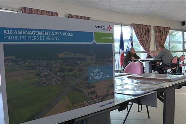 L'enquête publique a été menée dans 26 communes de la Vienne et de l'Indre-et-Loire, concernées par le projet d'élargissement de l'A10.