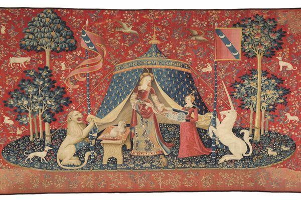 """Les tapisseries de """"La Dame à la Licorne"""", une tenture du XVe siècle, bientôt exposées au musée des Abattoirs de Toulouse. Un prêt exceptionnel, une première en France."""
