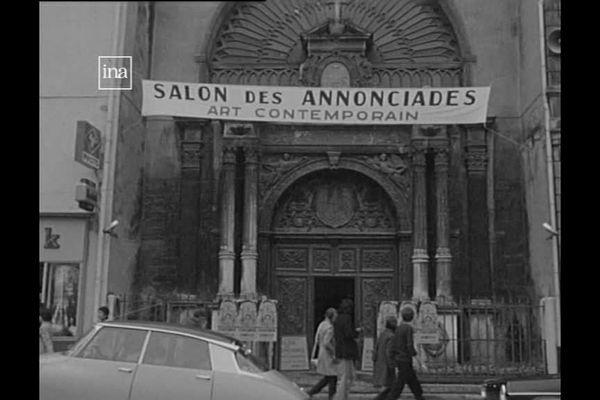 Le salon des Annonciades est né en 1924, voir quelques images d'archives de 1970