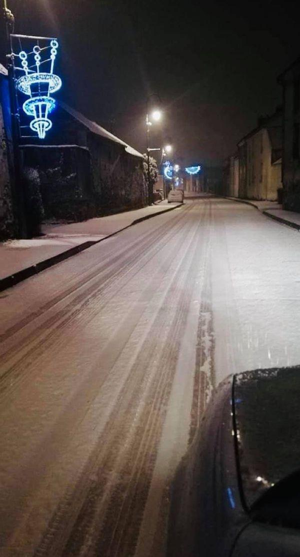 Quelques centimètres de neige sont tombés à Villers-Cotterêts dans l'Aisne