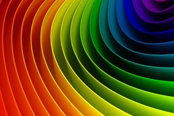 Le ruban multicolore de la marche des fiertés LGBT