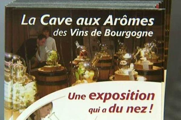 """Affiche de l'exposition de l'Ecole des vins """"Une exposition qui a du nez!"""""""