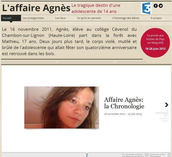 http://auvergne.france3.fr/2013/06/17/tout-sur-l-affaire-agnes-271931.html