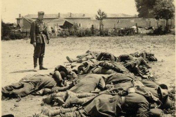 On estime à 500 le nombre de soldats venus des colonies massacrés par l'armée allemande dans l'Oise le 9 juin 1940.