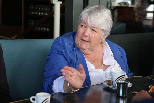 La ministre de la cohésion et territoire et des Relations avec les collectivités territoriales, Jacqueline Gourault, lors de sa visite à Angoulême le 4 septembre 2020.