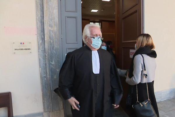 Gilles Antomarchi à la sortie de la salle des assises.