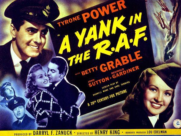 """Affiche d''Un Yankee dans la RAF"""""""