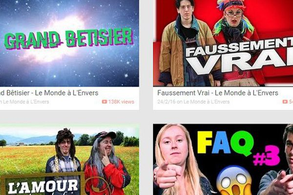 Jenny et Valentin ont crée la chaîne YouTube Le Monde à l'envers, il y a quatre ans.