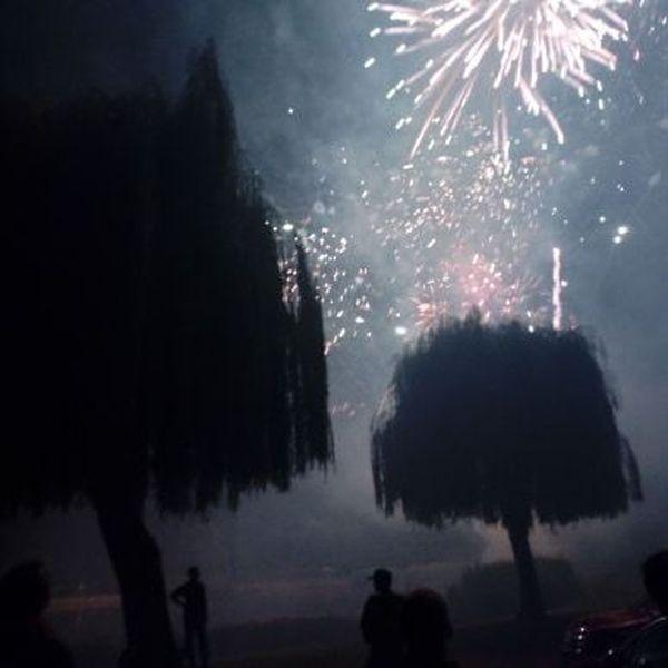 Le feu d'artifice de Erstein.