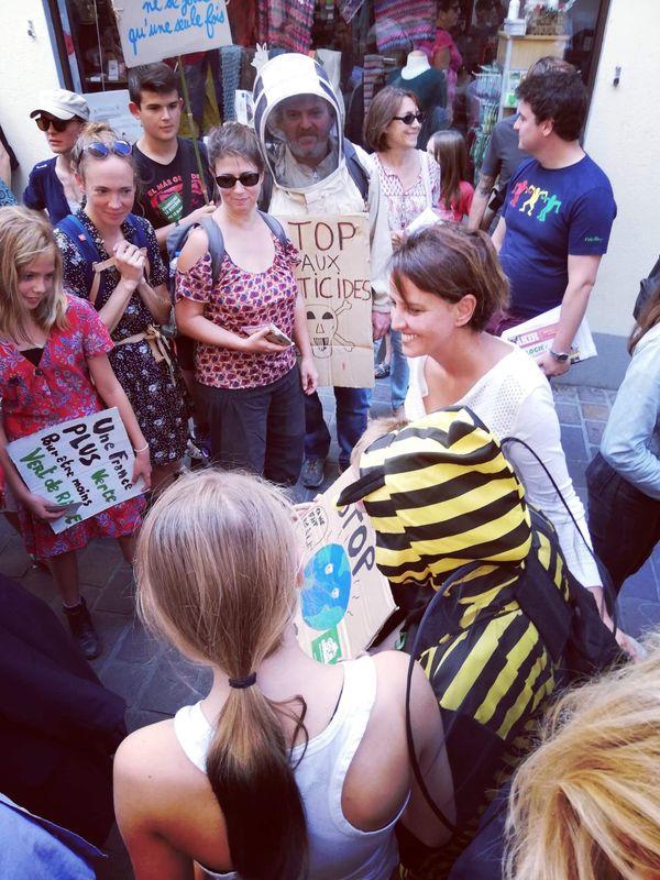 Dans la manifestation pour le climat