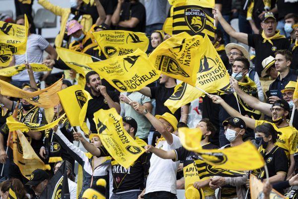 Les supporters du Stade Rochelais lors de la finale du Top14 contre Toulouse.