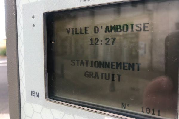Horodateur arrêté à Amboise