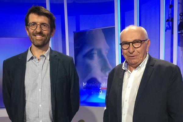 Charles Brault et Pierre Pécoul, les 2 candidats à l'élection municipale de Riom