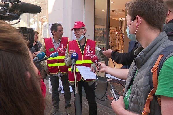 Thierry Siwik, délégué CGT, a alerté sur les 800 emplois menacés dans la région.