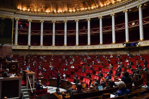 L'hémicycle de l'Assemblée nationale, le 26 mai 2020.