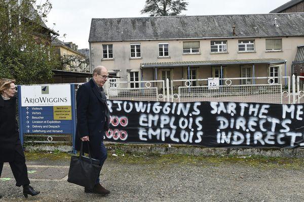 Le site d'Arjowiggins, à Bessé-sur-Braye, menacé de fermeture.