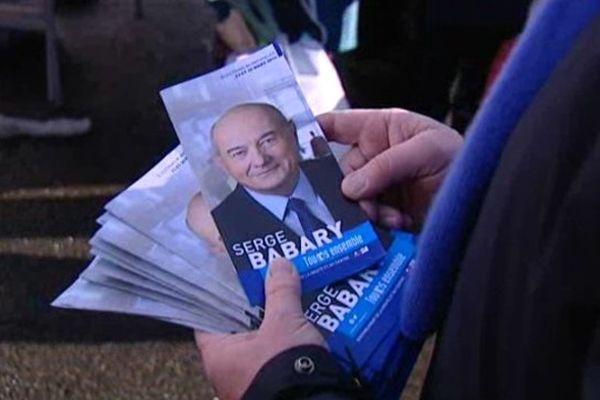 Tract de campagne de Serge Babary, tête de liste de la Droite aux élections municipales à Tours (Indre-et-Loire)