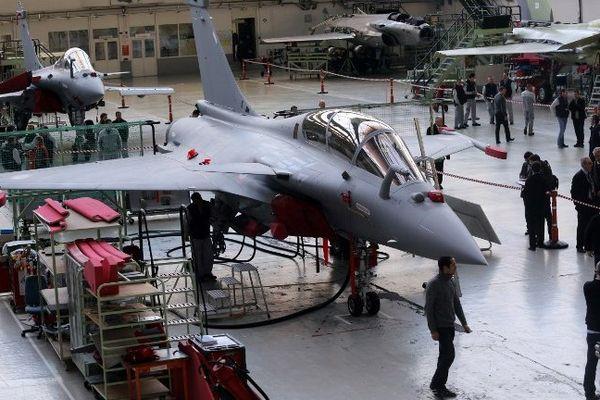 Le Rafale assemblé dans l'usine Dassault de Mérignac en Gironde.