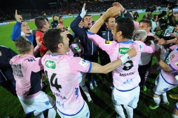 L'ETG FC après la victoire contre le PSG en Coupe de France
