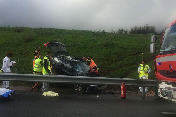 05/11/2018 - Deux accidents de la circulation ont eu lieu à quelques minutes d'intervalle et au même endroit sur la commune de Lucciana (Haute-Corse)