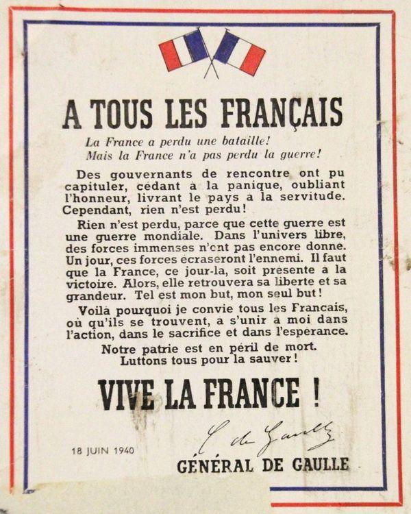 L'appel du 18 juin 1940 du général de Gaulle a en réalité été très peu entendu par les Français.