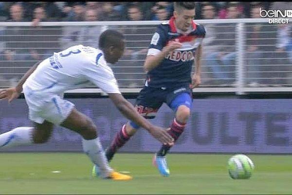 Les Monégasques, qui sont en tête du championnat de Ligue 2 de football, ont battu les Auxerrois 2 à 0 samedi 13 avril 2013 au stade de l'Abbé-Deschamps.