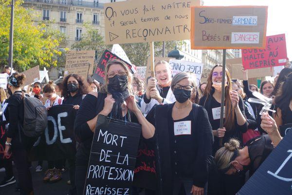 Le 7 octobre, de nombreuses sages-femmes francs-comtoises sont allées à Paris pour manifester