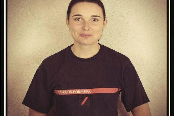 Fanny Simon était pompier volontaire à Saint-Hippolyte