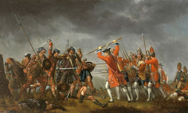 La bataille de Culloden, en Ecosse. C'est là que se joue une partie du roman de Robert Louis Stevenson. (The Battele of Culloden / Tableau de David Morier)