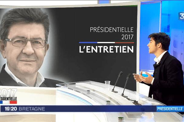 Pierre-Yves Cadalen a défendu dans le 19/20 de France 3 Bretagne ce vendredi 21 avril le programme de Jean-Luc Mélenchon, candidat à l'élection présidentielle.