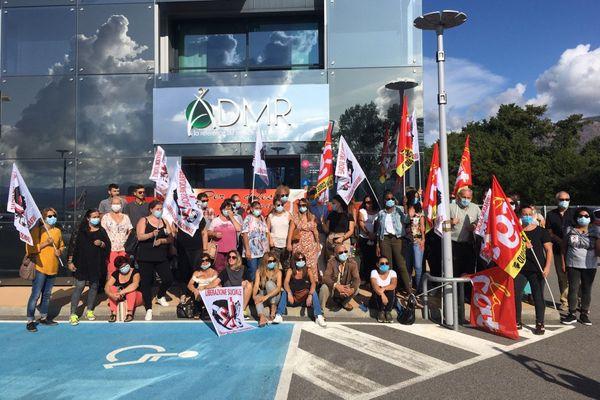 L'ADMR de Sarrola Carcopino (Corde-du-Sud) en grève.